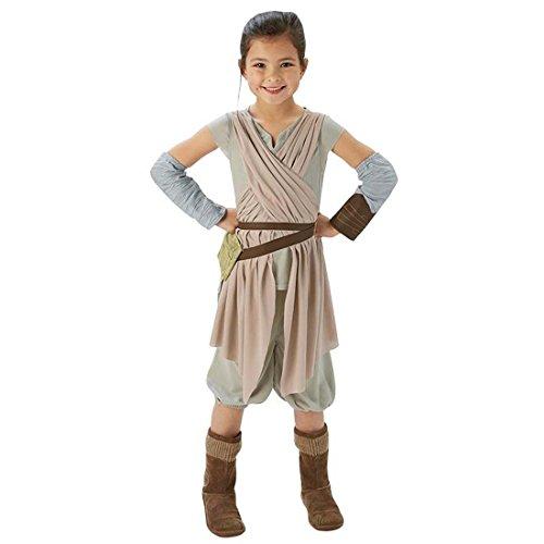 Rey Mädchen Kostüm Star Wars - Kinder Rey Kostüm Star Wars Kinderkostüm M 128 cm Jedi Faschingskostüm Starwars Verkleidung Jediritter Fantasy Karnevalskostüm Mädchen Larp Kleidung