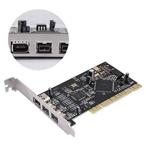 Tonysa 100/200/400 / 800Mbps Tarjeta Capturadora de Video PCI 3 Puertos Firewire 800 1394 b/a (2B1A), Tarjeta Captura Video Chip de Control Principal para SN082AA2 Macintosh Windows Linux