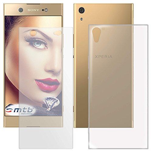 mtb more energy® Schutzglas & Schutzhülle für Sony Xperia XA1 Ultra (G3221, G3223... / 6.0'') | transparent | Tempered Glass Glasschutz TPU Case