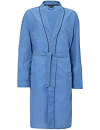 Hombre Liso Tejido Verano Algodón Poliéster Kimono Tiras bata