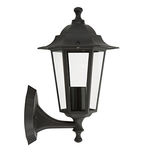 Lampe Outdoor Wand Laterne (Outdoor Wall Light 60 W Black)