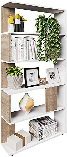 VICCO Raumteiler Raumtrenner Bücherregal Standregal Aktenregal Hochregal Aufbewahrung Regal (Sonoma Eiche (groß))