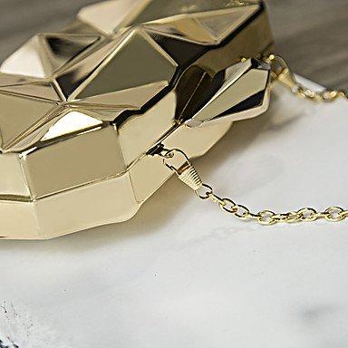 Heart&M Donna PU (Poliuretano) Formale Sport Casual Serata evento Matrimonio All'aperto Ufficio e lavoro Borsa da sera Oro Argento Grigio argento , gold Silver