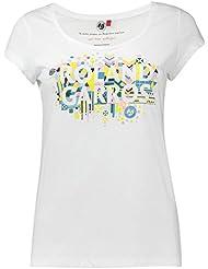 Roland GarrosCamiseta para mujer con estampado gráfico, colorblanco, camiseta, color blanco, tamaño XXL (talla del fabricante: 4)