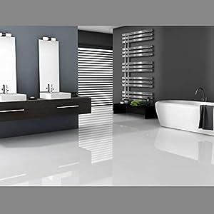 ECD Germany Radiador de baño Iron design – 500 x 1000 mm – Antracia – Radiador de toallas – Secador de toallas…