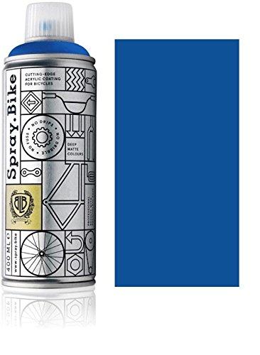 """Fahrrad Lackspray in versch. Farben - KEINE GRUNDIERUNG notwendig - Acryllack / Lack Spray in 400 ml Spraydose, Matt- und Klarlack Optik möglich (Königsblau \""""Bayswater\"""", Matt)"""