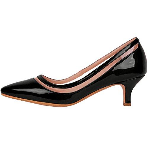 Calaier Femme Experience 9.5CM Aiguille Glisser Sur Escarpins Chaussures Noir