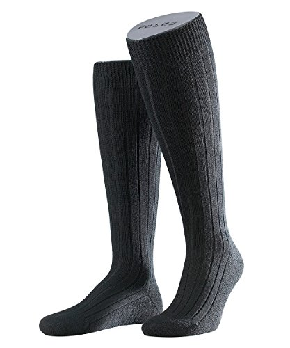 FALKE 3 Paar Teppich i.S. KH im Schuh Kniestrumpf 15410 Klassiker für kalte Tage, Farbe:Black, Socken & Strümpfe:39-40