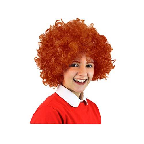 SeeMeInThat Ginger Annie Musik Perücke Rotbraun gelockt Orphan Kinderkostüm Buch Woche
