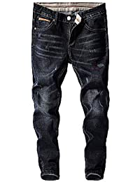 Comradesn Jeans Uomo Pantaloni Denim Designer Nero Blu Stretch Jeans Slim  Fit Uomo Streetwear Cowboys Hip 20064279dfa3
