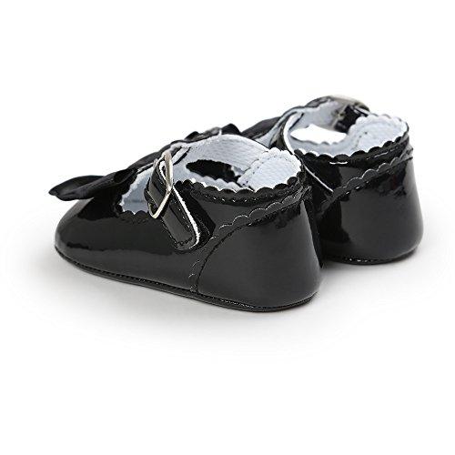 Baby Mädchen Leder T-Strap Schuhe Kleinkind Prinzessin Party Schuhe Schwarz