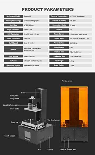 Orange 10 LCD 3D-Drucker Longer SLA Intelligente Unterstützung Schnelles Schneiden von UV-Licht aushärtendem UV-Harz 3D Drucker - 5