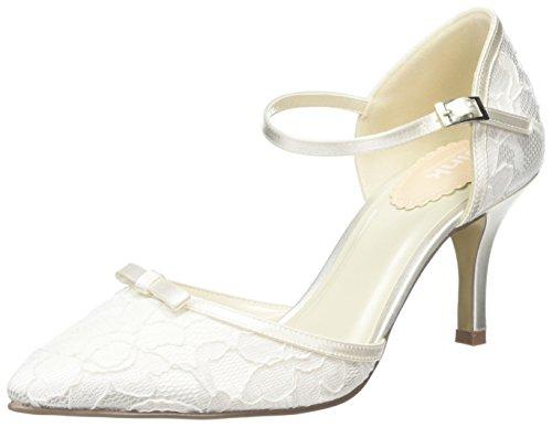 Paradox London Pink - Devotion, Scarpe col tacco punta chiusa Donna Off-White (Ivory)