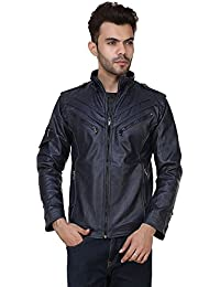 Derbenny High Quality Premium Navy Leather Jacket For Men