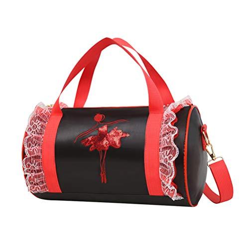 FENICAL Tanztasche Spitze Ballett Tasche Ballerina Duffle Bag für Baby Kinder Mädchen (Schwarz) Ballerina Duffle Bag