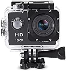 RaptasCo 1080P LCD 140 Degree Wide Angle Lens Waterproof Diving Up to 30m Action Camera for All Smartphones (Multicolour, 1080PAction Camera)