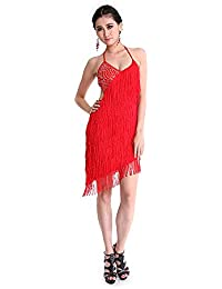 CoastaCloud Gonna Ballo Latino Danza alla Latina Donna Vestiti Balli Rosso 6b53194b2ee