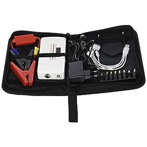 Cablematic – Banco de batería USB con arrancador de coche de 14000mAh y DC12V DC19V visor LCD