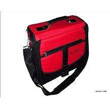 Sony Playstation 3PS3Slim rojo y negro bolsa de transporte para consola/funda. También para uso de coche.