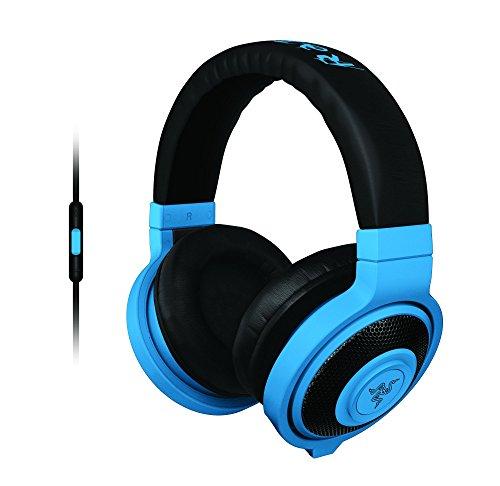 Razer Kraken Mobile - Analoge Gaming und Musik Kopfhörer neon blau
