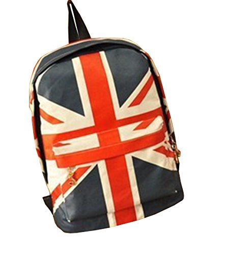 sack Leinwand Teenager Vintage Rucksack Casual Daypacks für Outdoor Universität Sports USA/UK Union Jack Flag amerikanische Canvas USA Stars and Stripes ()
