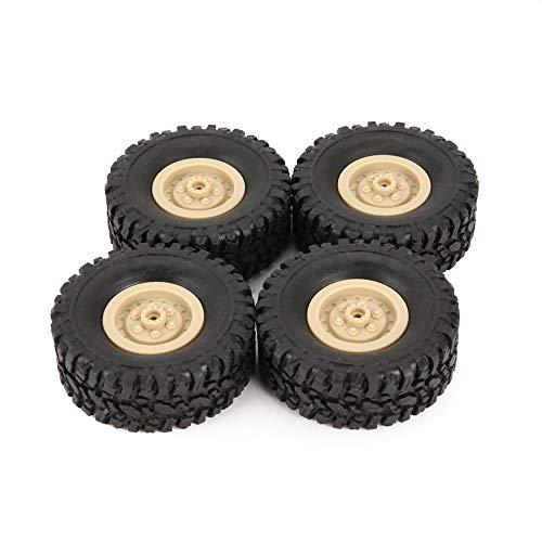 ARDUTE 4 stücke Gummi Felge Reifen Reifen für RC 1/16 Klettern Crawler Auto WPL B-1 / B-24 / C-14 / C-24 / B-16 LKW Teil Ersatzteil Zubehör