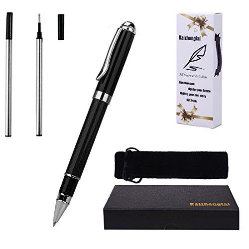 Kugelschreiber Schreiben Set mit Geschenk-Box Fashion Collection weiß Schaft mit 2 extra Edelstahl, feines Refill Roller ball pen