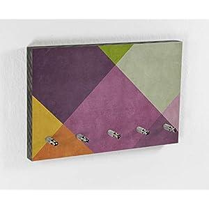 Schlüsselbrett | Pflaume | Fruit Colors | 5 Haken | Bunt | Schönes Muster | Moderner Style | Wohntrend | Hakenleiste | Wohnen mit Farbe