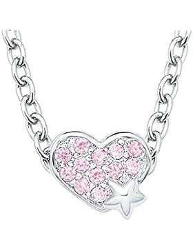 Prinzessin Lillifee Kinder-Kette mit Anhänger Herz/Stern 925 Silber rhodiniert rosa
