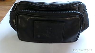 """Gusti Cuir studio """"Jules"""" sacoche ceinture sac banane sac de tous les jours homme femme cuir de buffle noir 2G8-22-9"""