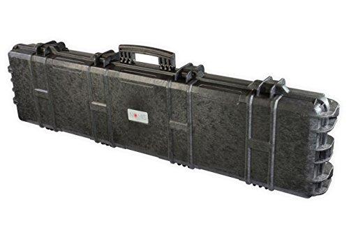 Nomis Gewehrkoffer Gun Case 138x39x15cm Staub- wasserdicht schwarz mit Rollen