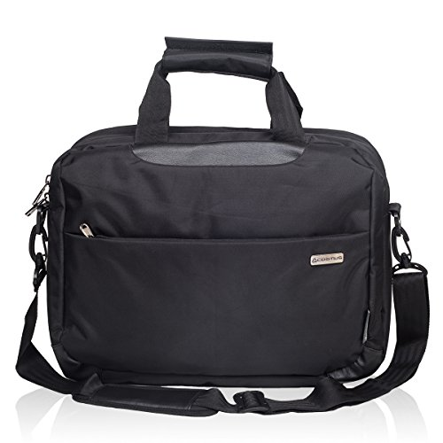 Cosmus-Polyester-16Litres-Black-Laptop-Briefcase