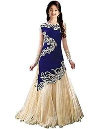 Harmee Fashion Girl's Semi -Stiched Partywear Banglori Silk Lehenga Choli For Girls (8 To 12 Year)