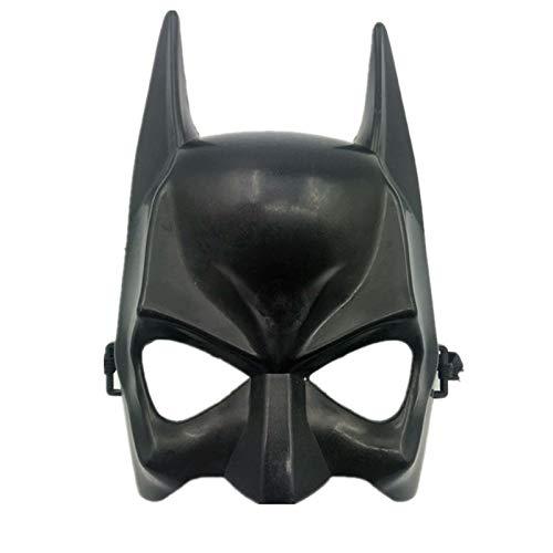 VAWAA Halloween Halb Gesicht Batman Maske Schwarz Maskerade Party Masken Superman Cosplay Maske Karneval Cool Weibliche Batman Kostüm Liefert