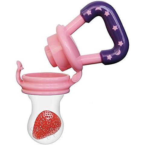 Biubee Baby Food Feeder-Silicone Teether Nibbler con frutta fresca di verdure per i più piccoli