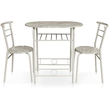 ts-ideen 3er Set Essgruppe Esstisch Küchentisch Tisch Stühle ...