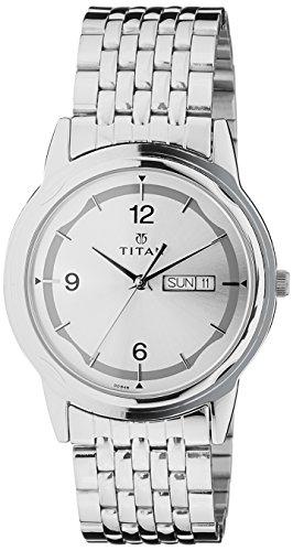 41LJIwnUPFL - Titan 1638SM01 Karishma Silver Mens watch
