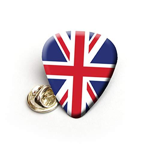 Union Flag UK Gitarrenplektrum Plektron Plektrum Anstecknadel Krawattennadel -