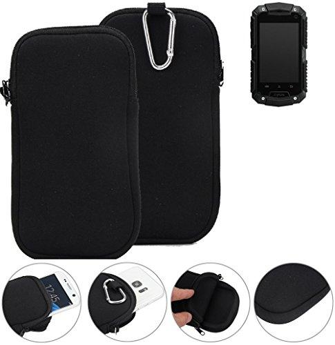 K-S-Trade Neopren Hülle für Cyrus CS 20 Schutzhülle Neoprenhülle Sleeve Handyhülle Schutz Hülle Handy Gürtel Tasche Case Handytasche schwarz