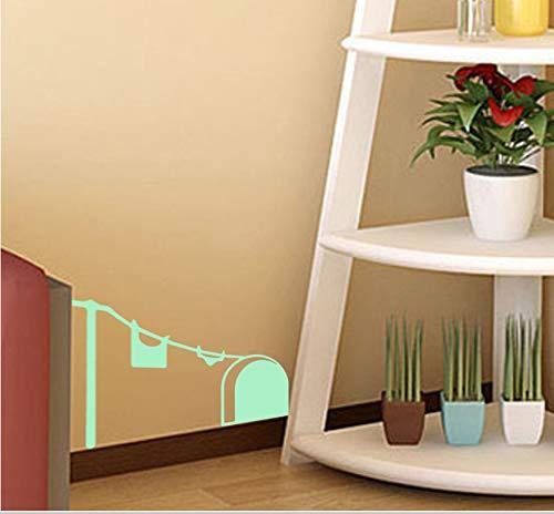 s Loch Wandaufkleber Kreative Ratte Loch Cartoon Kunst Aufkleber Für Schlafzimmer Wohnzimmer ()