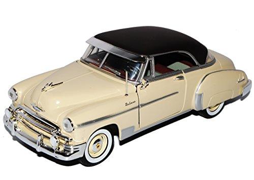Chevrolet Chevy Bel Air Coupe Beige Gelb 1950 Oldtimer 1/24 Motormax Modell Auto mit individiuellem Wunschkennzeichen