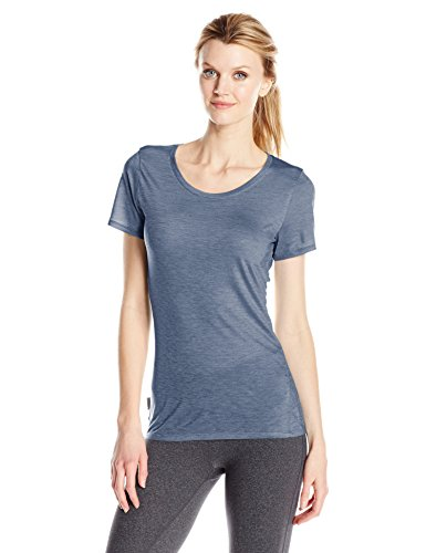 Icebreaker Sphere T-Shirt Manches Courtes Femme, Gumtree/Snow/Stripe, FR : M (Taille Fabricant : M)