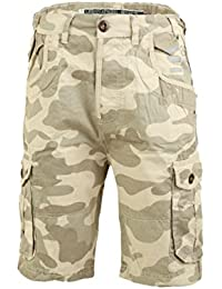 93687ccff8 Smith & Jones Men's Designer Players Camo Camouflage Cargo Combat Army  Casual Shorts