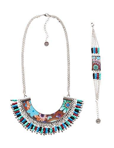 Desigual - Parure Collier et bracelet multicolor - Femme