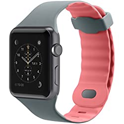 Belkin Sports Strap with Air Flow Wave Design for 42 mm Apple Watch Series 1/2 - Grey/Pink