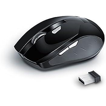 Wireless - USB Notebook Maus SR 353-S   optisch   ergonomisches Design   1600dpi   2,4GHz Nano Empfänger   Kabellos   Funk   anthrazit