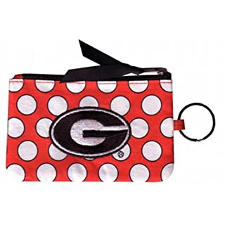 Game Day Outfitters NCAA Georgia Bulldogs Keychain Coin Purse Divided