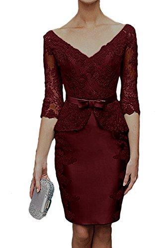 Ivydressing - Robe - Crayon - Femme rouge bordeaux