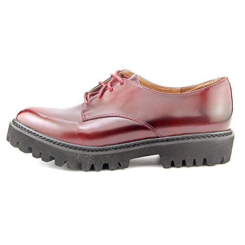 Jeffrey Campbell Pistol Femmes Cuir Oxford Wine Polish