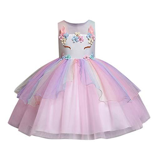 UFODB Ballkleider Mädchen, Kleinkind Kinder Baby Tulle Pailletten Stern Nähen Mesh Print Prinzessin Kleid Outfits Party Abendkleid Brautjungfer ()